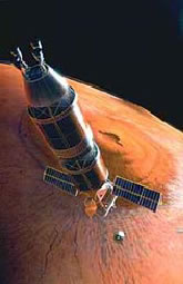 Over Olympus Mons